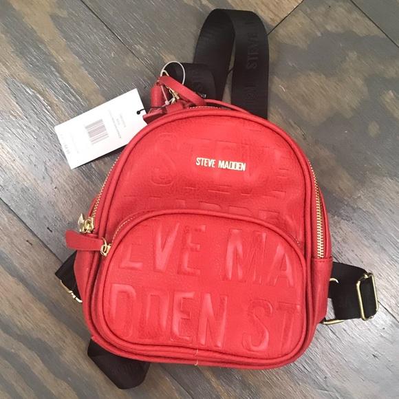 58b4a83ef9 Steve Madden New Logo Mini Backpack NWT